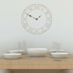 Roman Numeral Clock Face Stencil Large Clock Wall Template By
