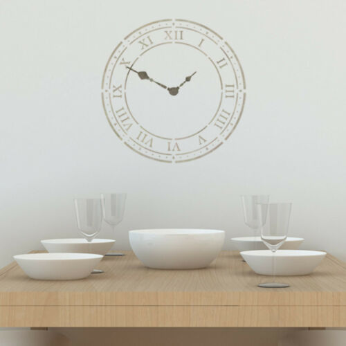 Roman Numeral Clock Face Stencil Large Clock Wall Template by CraftStar