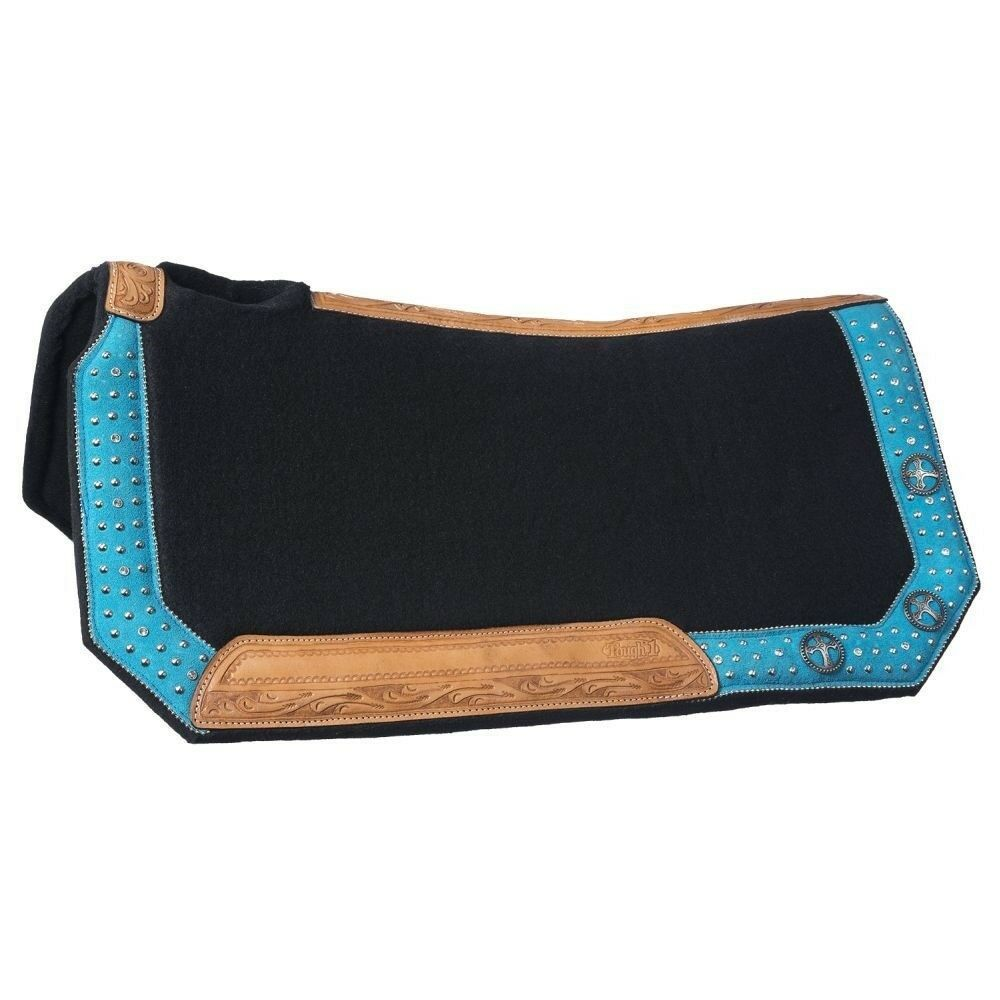 Tough-1  Gypsy Spirit Collection Saddle Pad Turquoise Suede Overlay  all goods are specials