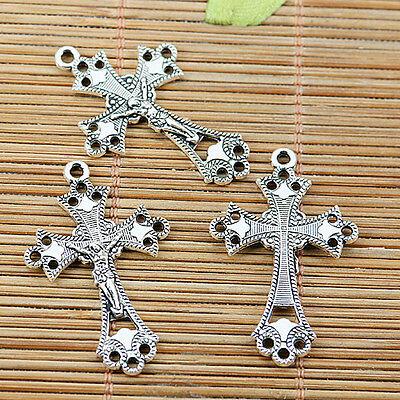 10pcs Tibetan silver NR crucifix charms EF1667