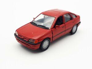 1-43-Schabak-1090-1091-ford-escort-rojo-maqueta-de-coche-sin-OVP