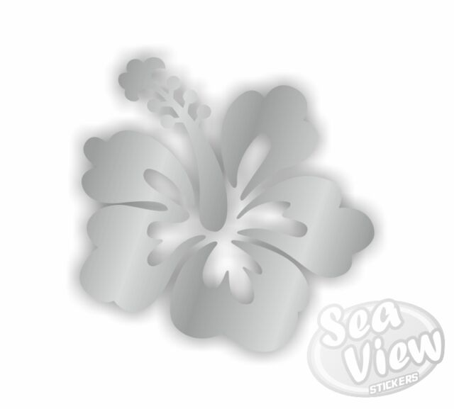30 Hibiscus Flower Car Van Bedroom Window Wall Stickers