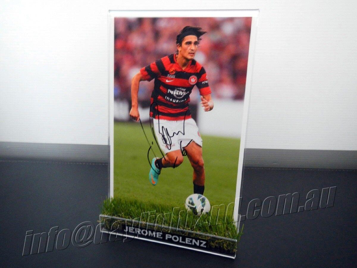 ✺Signed✺ JEROME POLENZ Photo & Frame PROOF Western Sydney Wanderers 2019 Jersey