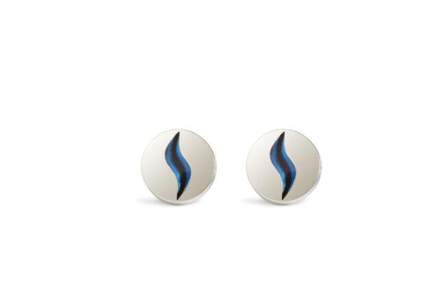MENS DESIGNER SIMON CARTER MARBLE BLUE CUFFLINKS