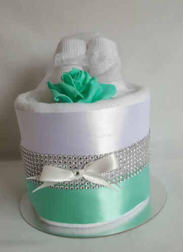 New Baby Gift Sparkly 1 One Tier Nappy Cake Baby Gifts Baby Shower