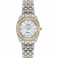 Citizen Eco-Drive Women's EW1594-55D Paladion Diamond Bezel and Markers Watch