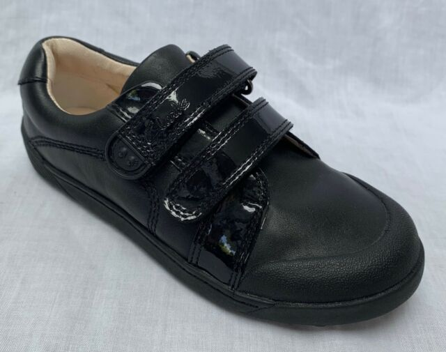 Clarks Girls Lilfolk Bel Inf Black Leather Smart School Shoes