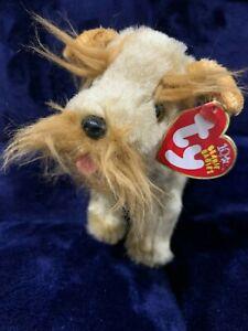 Ty Beanie Baby - SCHNITZEL the Dog Plush, NWT, 2002