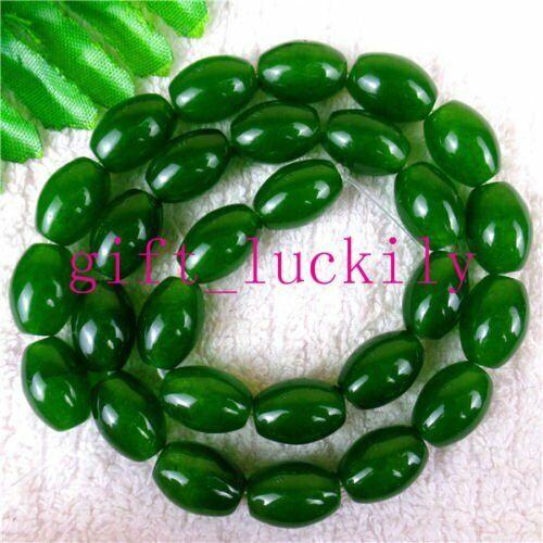 Multiple Choice Of Nice Green 14x10mm Malay Jade Oval Loose Beads 15.5inch BR7