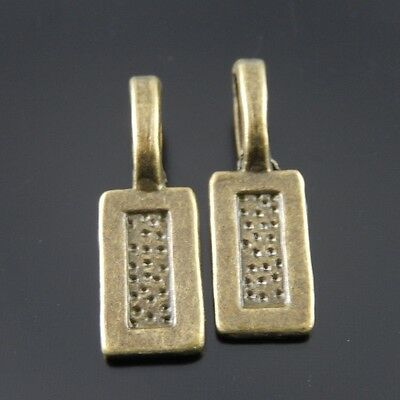 80pcs Antique Bronze Alloy Rectangle Engraved Love Heart Connector Charms 04521