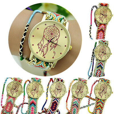 New Dreamcatcher Friendship Bracelet Watches Women Braid Dress Watches Trendy
