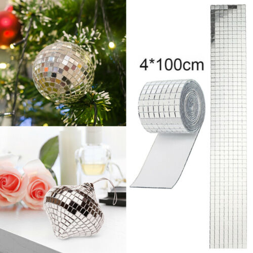 100x4cm Mirror Decal Self Adhesive Glass Mosaic Tiles Glass Crafts Sticker Home