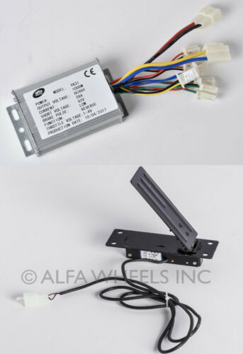1000 W 48V DC Speed Controller w REVERSE /& Foot Pedal Throttle f electric motor