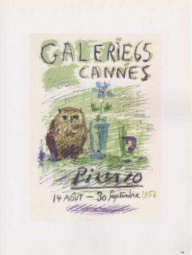 """1989 VINTAGE /""""PICASSO GALERIE 65/"""" CANNES MOURLOT Color offset Lithograph"""