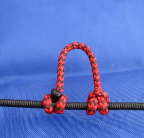 Lot de 1 Rouge /& Noir Moucheté Archery Release Bow String Nock Boucle D BCY #24