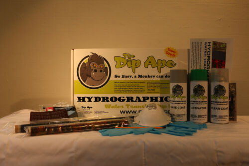 CARBON FIBER 1 TWILL DIP APE HYDROGRAPHIC WATER TRANSFER HYDRO DIPPING DIP KIT