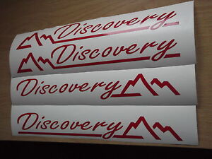 DISCOVERY WING PANEL STICKERS X4