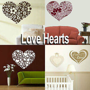 Love-Heart-Wall-Stickers-Girls-Home-Transfer-Graphic-Decal-Decor-Stencil-Art