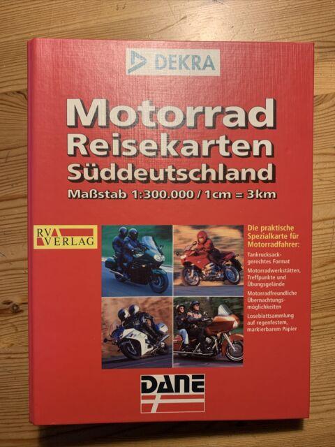 Motorrad Reisekarten Süddeutschland Ordner Dekra Maßstab 1: 300.000