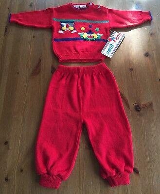 Boys ZU PETIT AMI Christmas outfit 12 18 24 months NWT Santa t shirt red pants