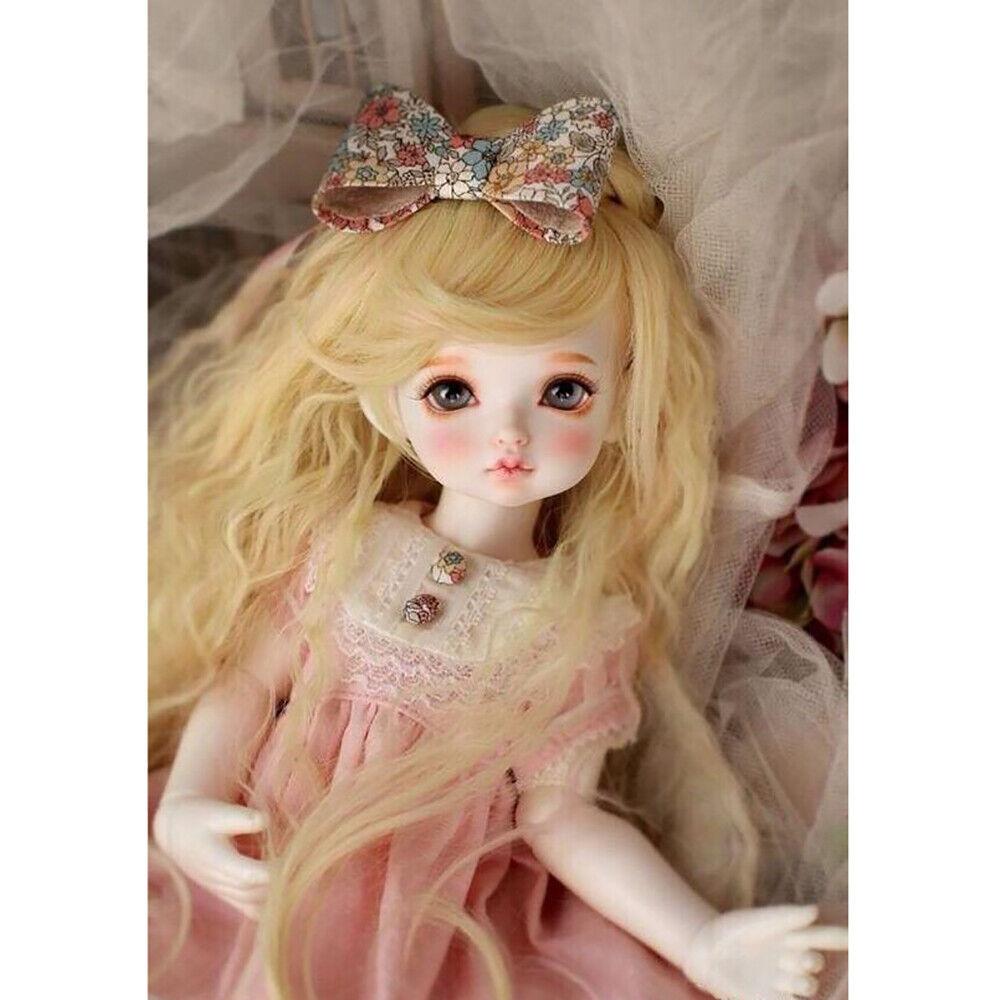 1 4 BJD Muñecas SD cinta Girl Doll Resina Sin Pintar Ojos Desnuda Muñeca + + Maquillaje de Cara