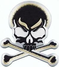5cb5d850139 Skull   Crossbones Big XL 7 X 8 Inches Embroidered Applique Iron-on Patch S