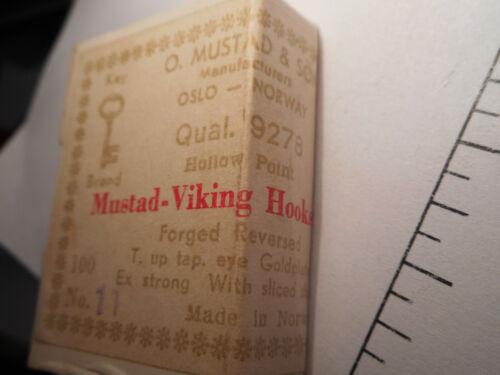 100 MUSTAD TROUT BAITHOLDER HOOKS #11 VIKING GOLDPLATED 1 SLICE  REVERSED 9278