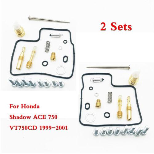 For Honda Shadow ACE 750 VT750CD 1999-2001 Carburetor Repair Carb Rebuild Kit 2x