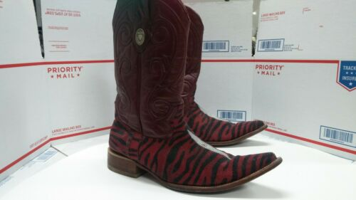 Unique White Diamond Cowboy Boots Mens Sz 10 - Fas