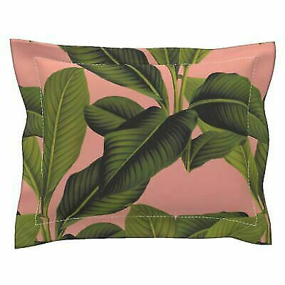 Botanical Palm Tropical Banana Leaf Cotton Dinner Napkins by Roostery Set of 4