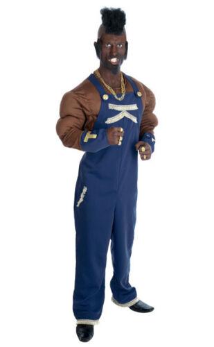 Mens 80s 1980s 80/'s Mercenary Fancy Dress Costume Mr T Outfit New