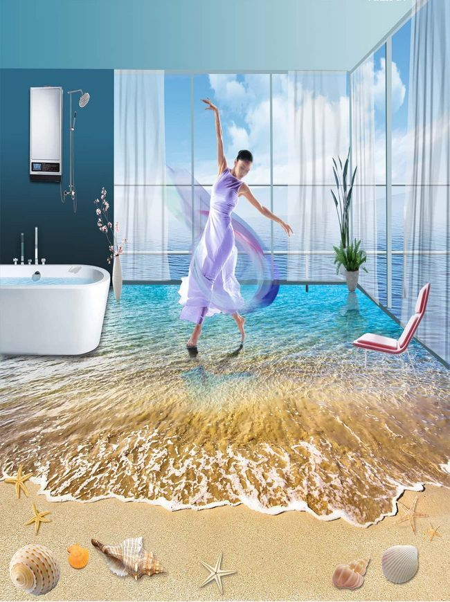 3D beach shell water 675 Floor WallPaper Murals Wall Print Decal 5D AJ WALLPAPER
