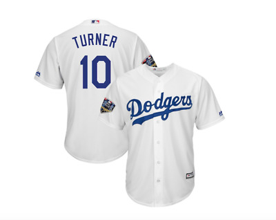 reputable site 1ab0d cf37a Los Angeles Dodgers Men's Justin Turner 2018 World Series Jersey - White |  eBay