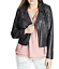 thumbnail 3 - City Chic women's Trendy Biker black Jacket zip front plus size L/20