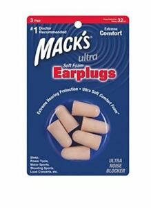 Ultra SafeSound Foam Earplugs x 3 Pair FREE UK P/&P Macks Mack/'s