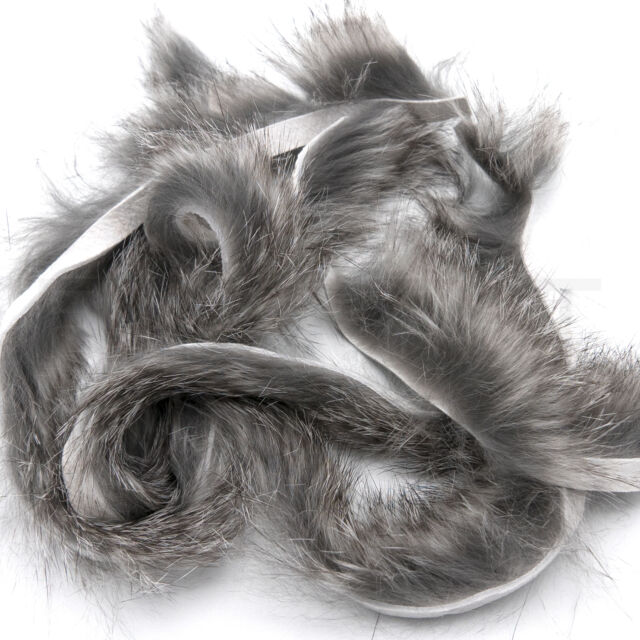 Fly Tying Material. Feather. Rabbit Fur Strip ... Charcoal..... Color.