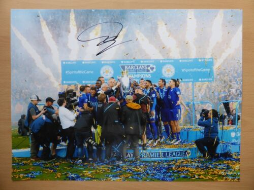 201516 Leicester City Champions Photograph Signed by Christian Fuchs 10273