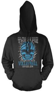 con Felpa Skull di terapia Volleyball cappuccio vxwOPqdFH