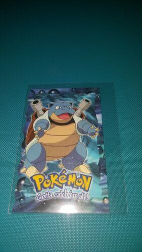 Topps Pokemon First Movie Die-Cut Embossed Card blastoise 9 of 10 blue logo NM