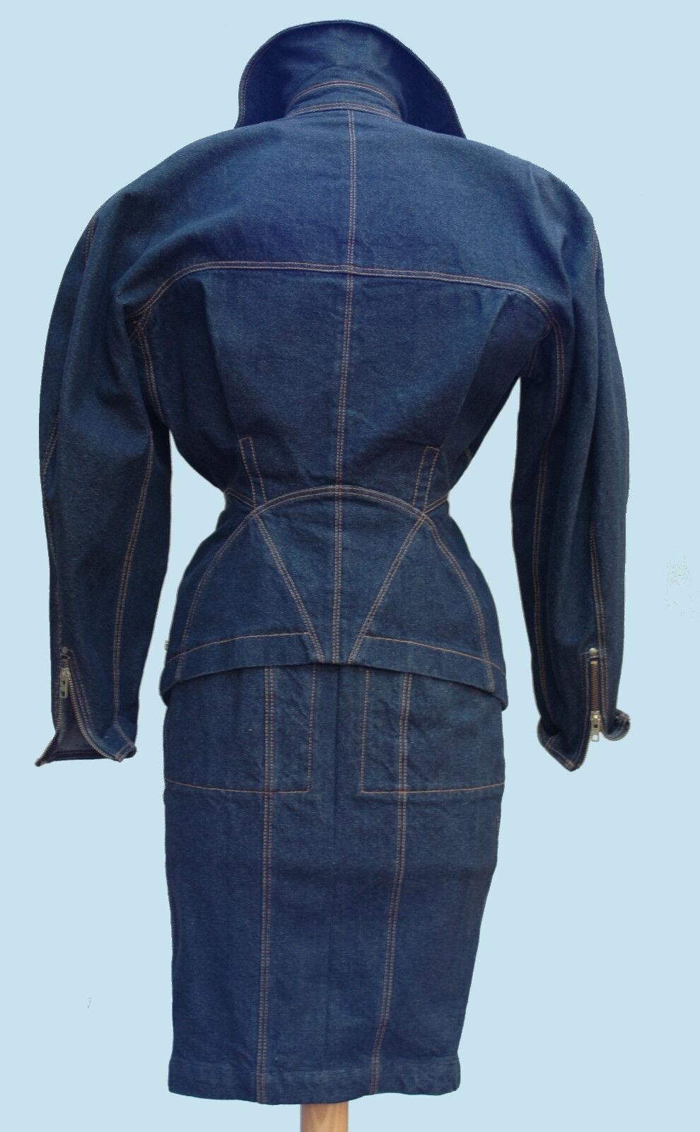 Iconic Azzedine Alaia vintage denim jacket and sk… - image 4