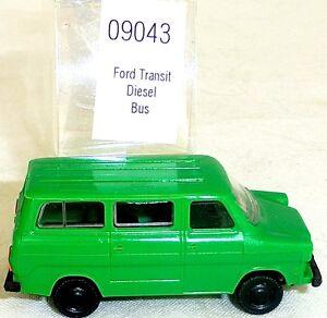 Ford-transit-bus-diesel-vert-Mesureur-EUROMODELL-09043-h0-1-87-OVP-ho1-a