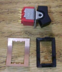 C-amp-K-7201-DPDT-Miniature-Rocker-Switch-solder-lugs-amp-mounting-frames