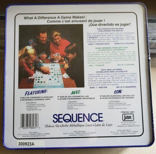 Family Board-Game New Trilingual Pressman Deluxe Sequence Tin
