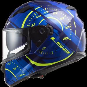 LS2-FF320-STREAM-EVO-DUAL-VISOR-FULL-FACE-MOTORCYCLE-HELMET-TACHO-BLUE
