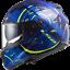 LS2-FF320-STREAM-EVO-DUAL-VISOR-FULL-FACE-MOTORCYCLE-HELMET-TACHO-BLUE miniature 1
