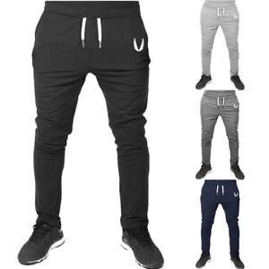 Men s Sport Pants Tracksuit Fitness Workout Joggers Gym Sweatpants ... 1317f8fd70b9