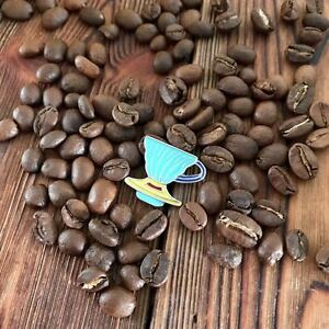 Blue Yellow Barista Coffee Geek V60 Dripper Pour Over Cone Keyring Key Ring