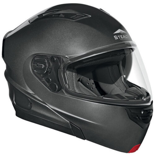 Vega Vertice Modular Flip Up Motorcycle Helmet Gray Metallic Adult Sizes