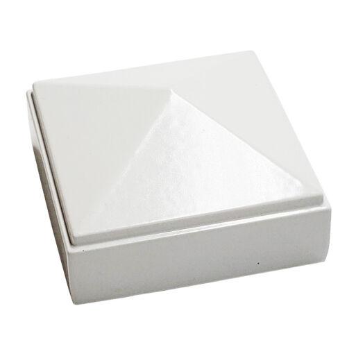 "2/"" X 2/"" Decorex matériel Aluminium Pyramide Post Cap for Metal postes-blanc"