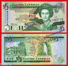 ST KITTS EAST CARIBBEAN STATES 5 Dollars dolares 1994 Pick 31k SC / UNC